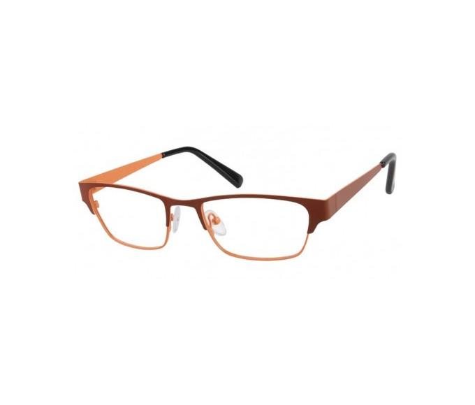 SFE Collection Plastic Glasses in Brown/Orange