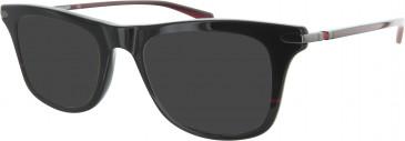 Ducati DA1008 Sunglasses in Black/Red