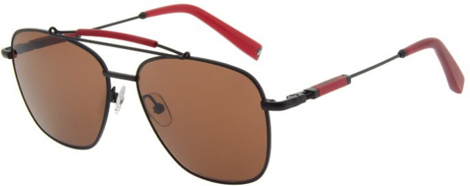 Ducati DA7003 Sunglasses in Black/Red