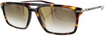 Ducati DA5008 Sunglasses in Tortoiseshell/Red