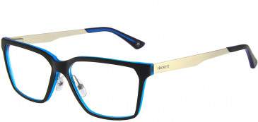 Hackett HEK1156 Glasses in Black/Crystal Blue