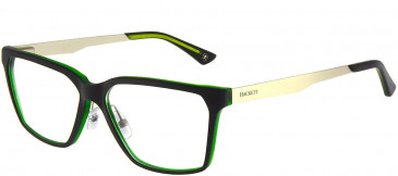 Hackett HEK1156 Glasses in Black/Crystal Green