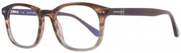 Hackett Bespoke Plastic Prescription Glasses in Brown/Grey Gradient