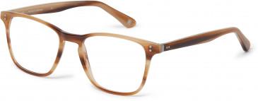 Hackett Bespoke Plastic Prescription Glasses in Milky Brown/Horn