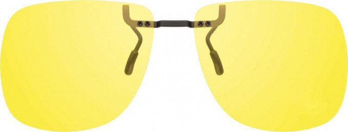 Polarized Clip-on Sunglasses in Yellow
