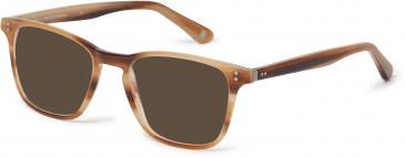 Hackett Bespoke Plastic Prescription Sunglasses in Milky Brown Horn