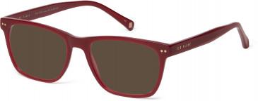 Ted Baker Plastic Prescription Sunglasses in Burgundy
