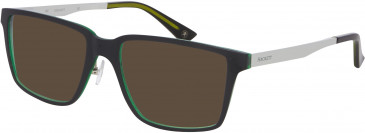 Hackett Plastic Prescription Sunglasses in Black/Crystal Green