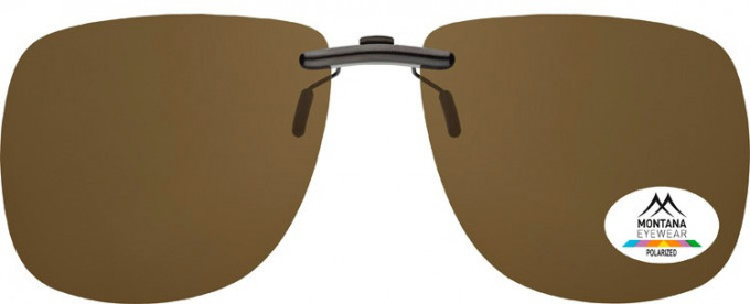 SFE-9830 Polarized Clip on Sunglasses in Brown