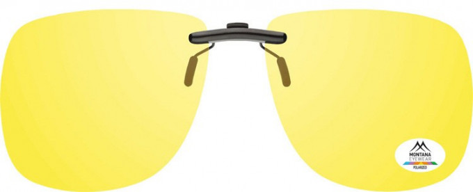 SFE-9830 Polarized Clip on Sunglasses in Yellow