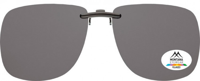 SFE-9831 Polarized Clip on Sunglasses in Smoke