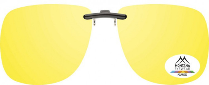 SFE-9831 Polarized Clip on Sunglasses in Yellow