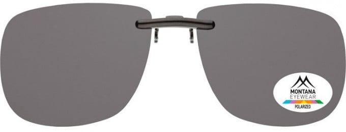 SFE-9832 Polarized Clip on Sunglasses in Smoke