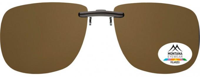 SFE-9832 Polarized Clip on Sunglasses in Brown