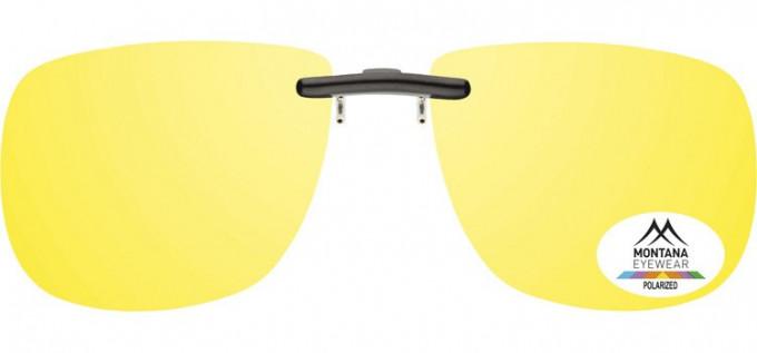 SFE-9832 Polarized Clip on Sunglasses in Yellow