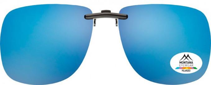 SFE-9833 Polarized Clip on Sunglasses in Blue