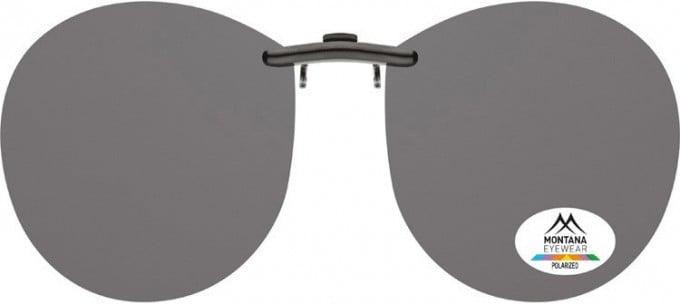 SFE-9834 Polarized Clip on Sunglasses in Brown