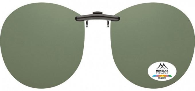SFE-9834 Polarized Clip on Sunglasses in Smoke