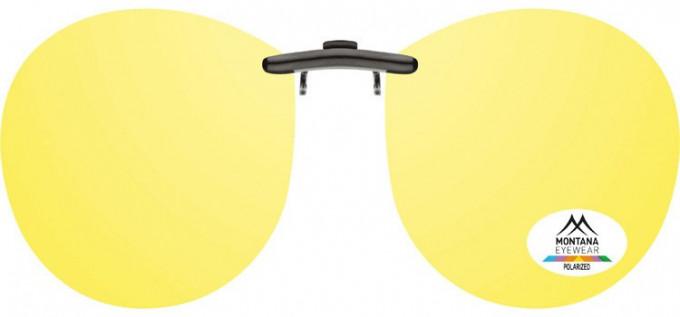 SFE-9834 Polarized Clip on Sunglasses in Yellow