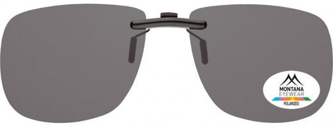 SFE-9835 Polarized Clip on Sunglasses in Smoke