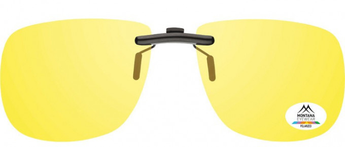 SFE-9835 Polarized Clip on Sunglasses in Yellow