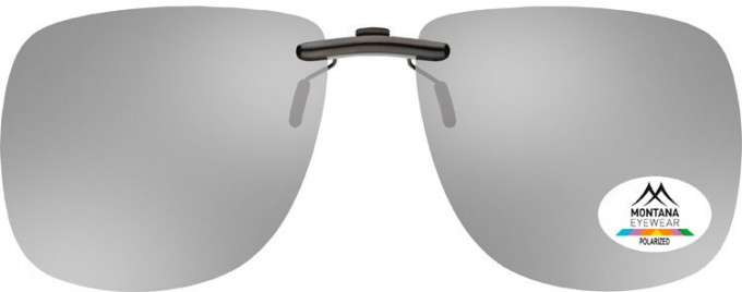 SFE-9836 Polarized Clip on Sunglasses in Silver Mirror