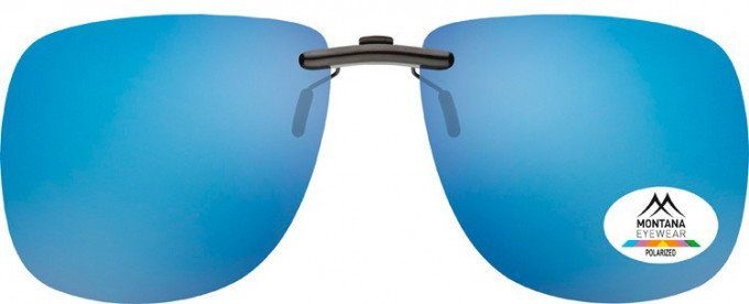 SFE-9836 Polarized Clip on Sunglasses in Blue