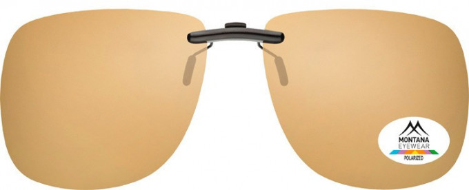 SFE-9836 Polarized Clip on Sunglasses in Brown