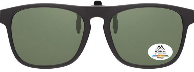 SFE-9838 Polarized Clip on Sunglasses in Black/G15