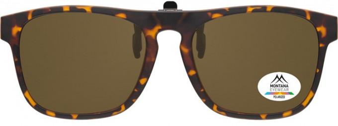 SFE-9838 Polarized Clip on Sunglasses in Turtle/Brown