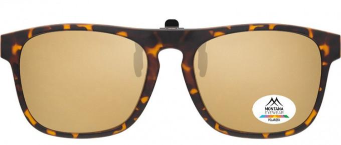 SFE-9839 Polarized Clip on Sunglasses in Turtle/Brown