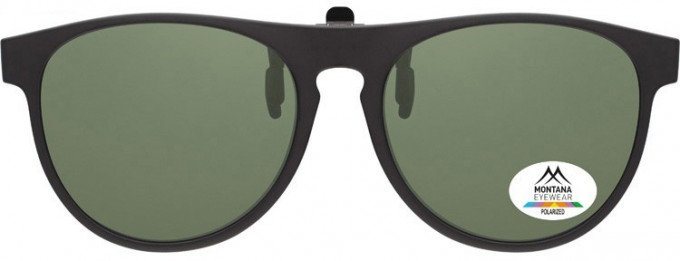 SFE-9840 Polarized Clip on Sunglasses in Black/G15