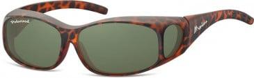 SFE-9853 Fit over Polarized Sunglasses in Matt Turtle