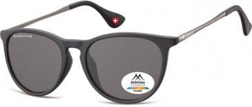 SFE-9859 Polarized Sunglasses in Black/Smoke