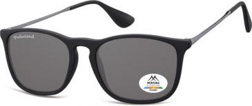 SFE-9863 Polarized Sunglasses in Black/Smoke