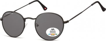 SFE-9872 Polarized Sunglasses in Black/Smoke