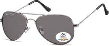 SFE-9873 Polarized Sunglasses in Gunmetal/Smoke