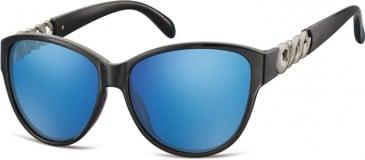 SFE-9875 Sunglasses in Black/Blue