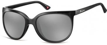 SFE-9876 Sunglasses in Black/Silver Mirror