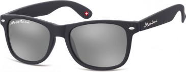 SFE-9877 Sunglasses in Black/Silver Mirror