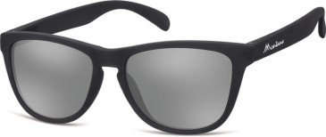 SFE-9887 Sunglasses in Black/Silver Mirror