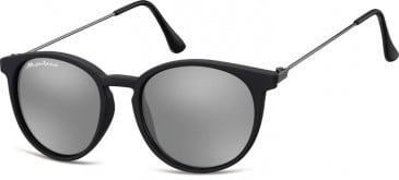 SFE-9889 Sunglasses in Black/Silver Mirror