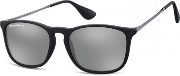 SFE-9890 Sunglasses in Black/Silver Mirror