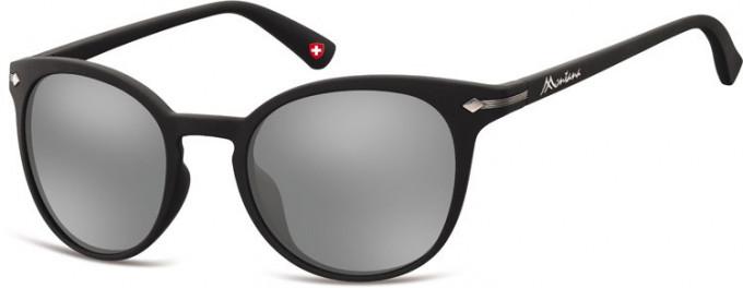 SFE-9893 Sunglasses in Black/Silver Mirror