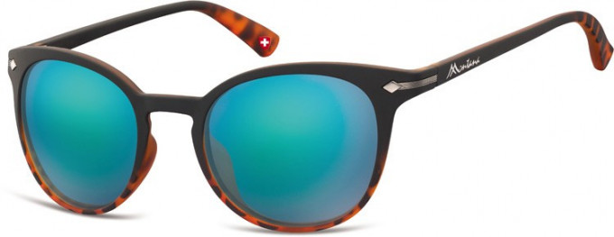 SFE-9893 Sunglasses in Black/Turtle/Green