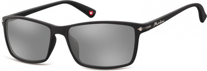 SFE-9894 Sunglasses in Black/Silver Mirror