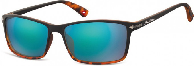 SFE-9894 Sunglasses in Black/Turtle/Green