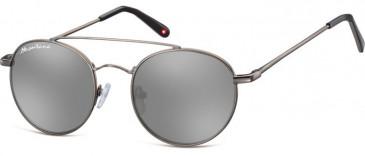 SFE-9899 Sunglasses in Gunmetal/Silver Mirror