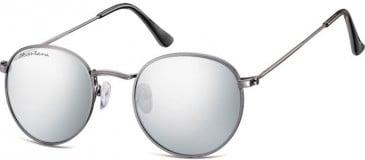 SFE-9901 Sunglasses in Gunmetal/Silver Mirror