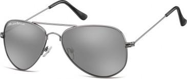 SFE-9902 Sunglasses in Gunmetal/Silver Mirror